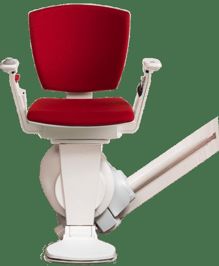 Il montascale Otolift Modul-Air è disponibile in rosso.
