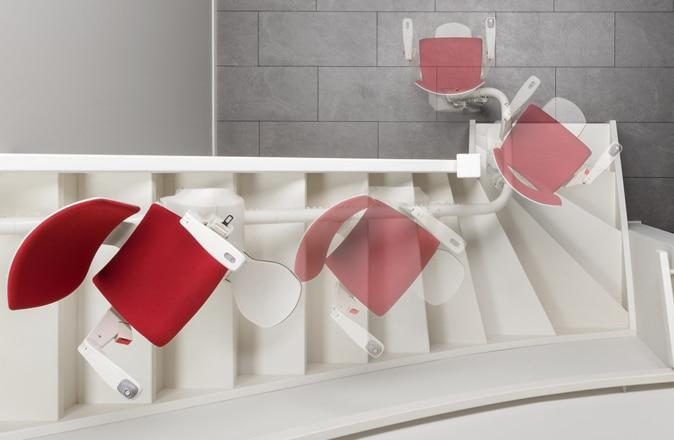Se c'è poco spazio sulle scale, Modul-Air può invertire parzialmente o addirittura completamente.